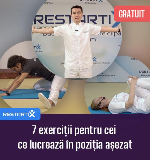 7 exerciții pentru cei ce lucrează în poziția așezat